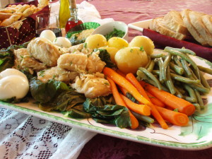 Poached Cod with Vegetables (Bacalhau de Consoada)