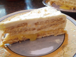 Maria Cookie Pudding Cake with Orange (Bolo de Bolacha Maria com Laranja)