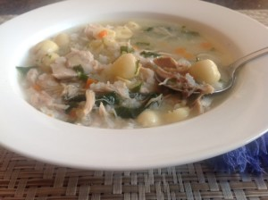 Chicken Soup with Kale and Lotus Flower Seed
