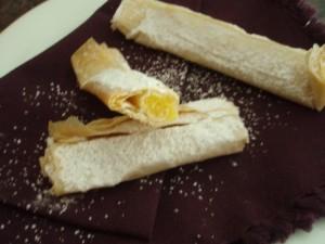 Cream Filled Fillo Pastries (Tentugals)